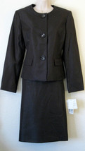 Suit Studio Skirt Suit NWT $$$ 10 UK 14 DARK Brown Silver UPTOWN GLAMOUR... - $38.00