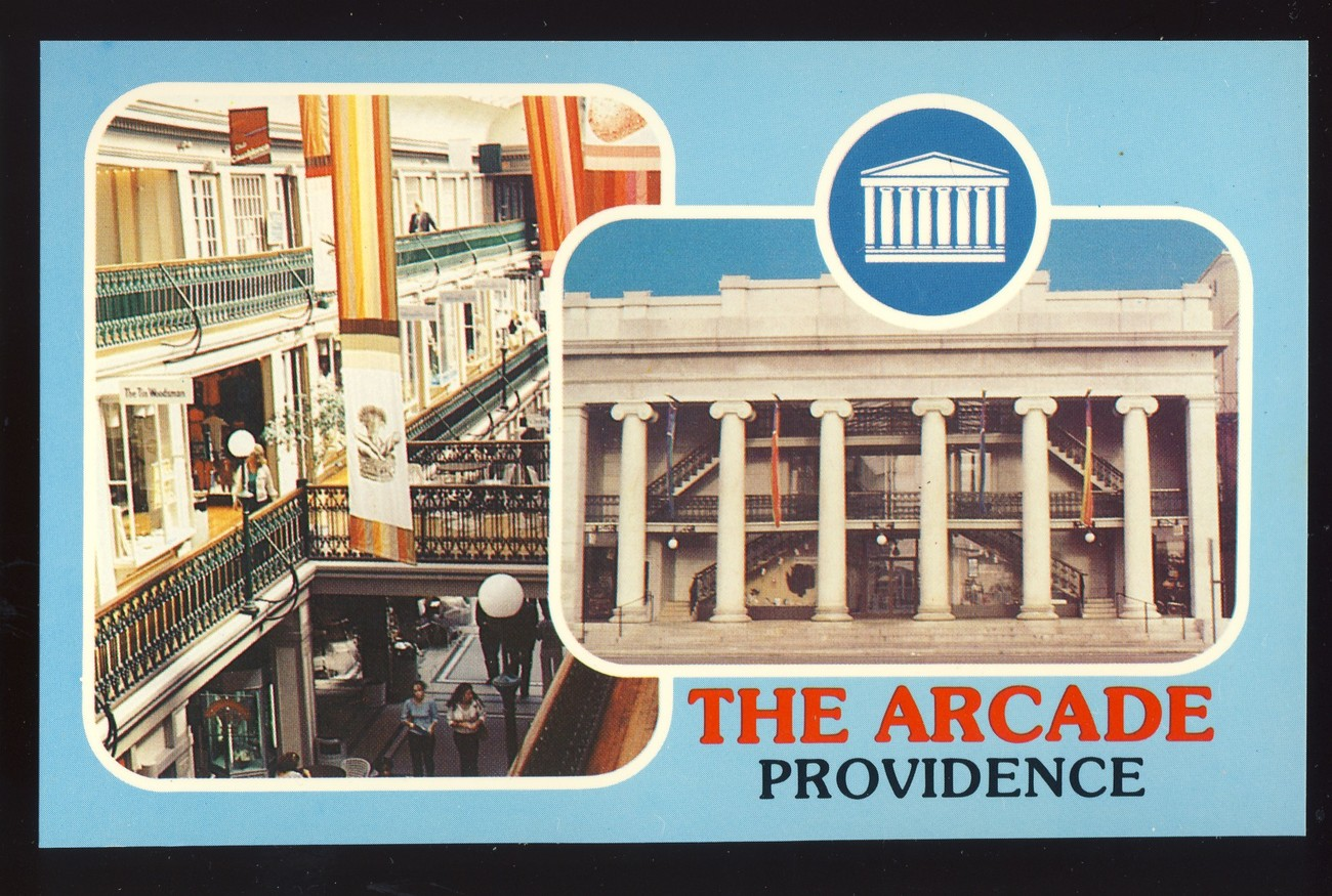 Providence, Rhode Island/RI Postcard, The Arcade, US Oldest Indoor Mall