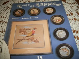 Kount On Kappie Book 33 Wildlife Close-up Cross Stitch Patterns - $10.00