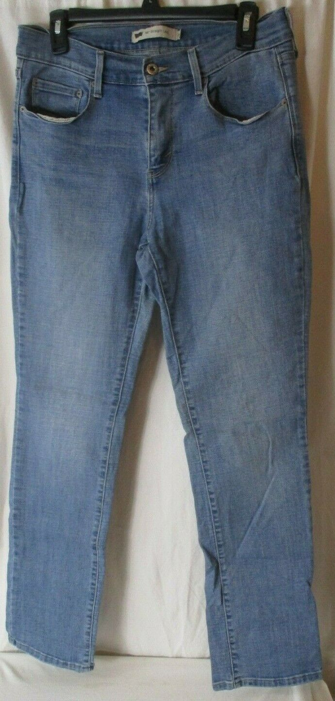 Primary image for Levi's Women's 505 Straight Leg Blue Jeans Size 8