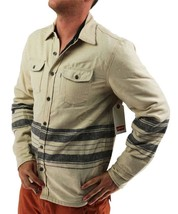 NEW LEVI'S MEN'S SHAN CLASSIC LONG SLEEVE STRIPED WOOL SHIRT BISCOTTI 3LDLW205 image 2