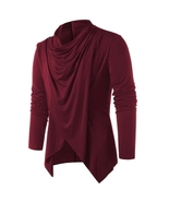 Asymmetrical Overlap Asymmetrical Cardigan For Men - $23.58