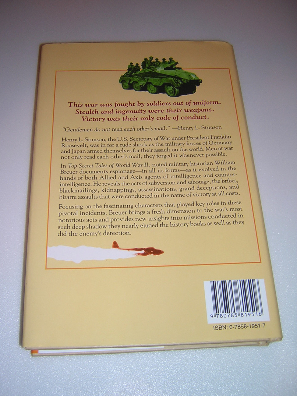Top Secret Tales of World War II by William B. Breuer