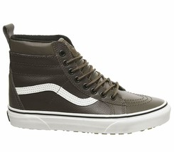 Vans Men's Sk8-Hi MTE Leather Skate Shoe RAIN DRUM LEATHER 9.5 10 - £67.48 GBP+
