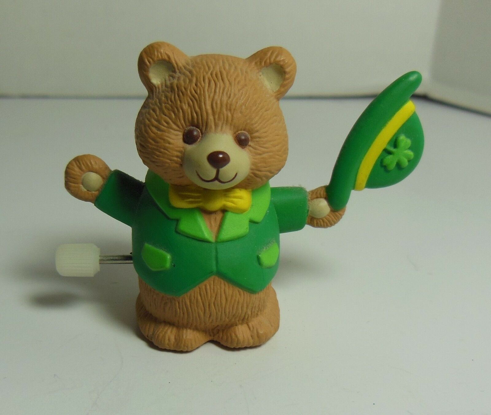 Primary image for Hallmark PIN St Patrick WIND UP BEAR Vtg Irish Holiday Brooch
