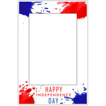 Paint Splat Patriotic Happy 4th of July Party Selfie Frame Poster - $16.34+