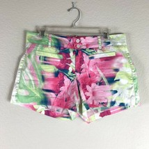 Nine West Womens Floral Print Chino Shorts Size 6 Multicolor - $8.90