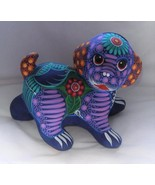 Ceramic Clay Hand-painted Bank Cute Puppy Dog Figurine Mexican Folk Art PB3 - $27.72