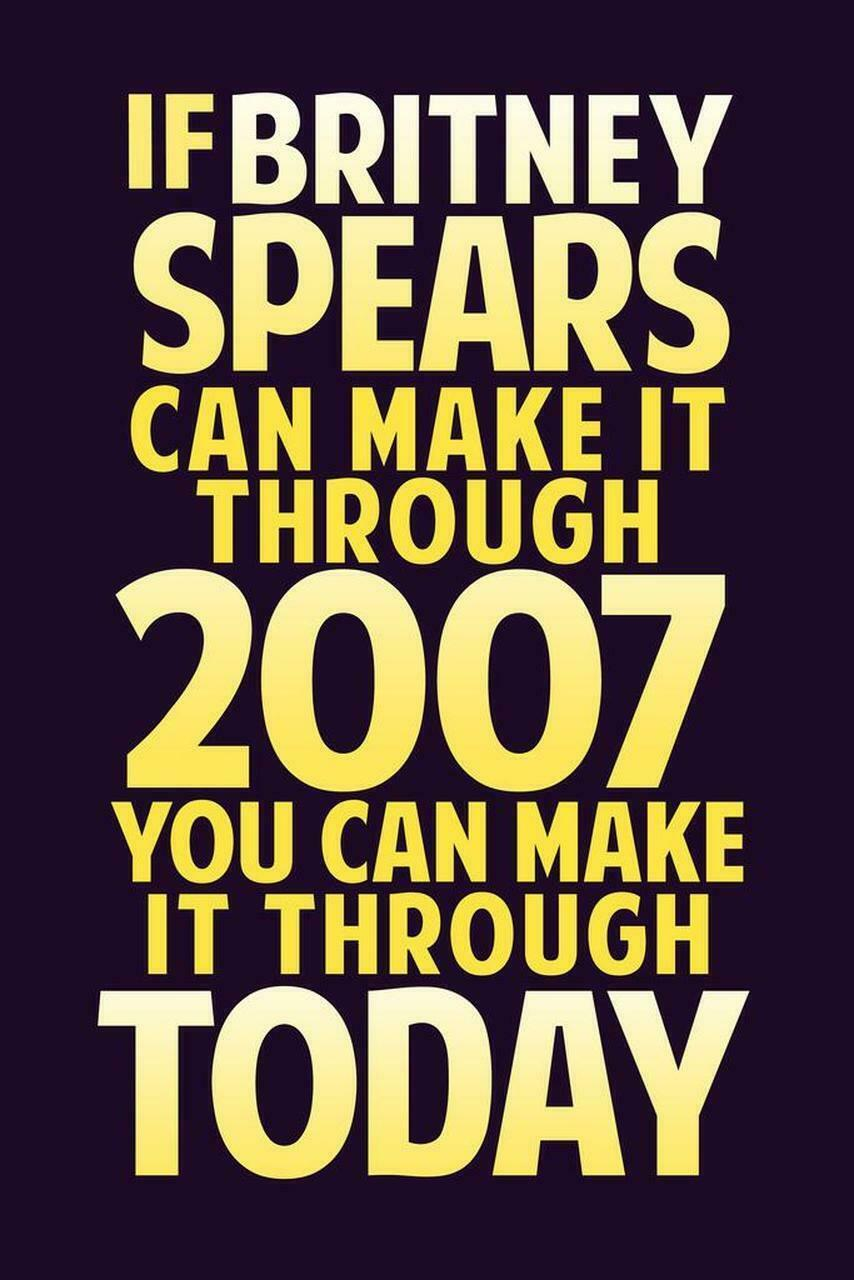 Britney Spears If Britney Spear Can Make It Through 2007 Dark Purple Poster NEW - $15.10 - $33.20