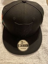 MARVEL BLACK PANTHER (NEW ERA 9FIFTY) SNAPBACK HAT NWT BLACK FLAT RIM CO... - $28.70