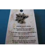 Square Dance Dancers Dancing Angel Souvenir Lapel Hat Pin - $6.99