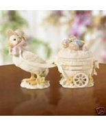 Lenox Easter Blossoms Duck Cart 3 Pc NIB COA - $95.00