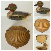 Duck And Planter Wall Hanging Set Vtg Frankies Designs 1983 - 2 Pieces - $13.98