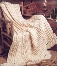Fisherman's Blanket Aran Heirlooms Afghan TNS Crochet PATTERN/INSTRUCTIO... - $6.27