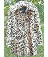 Vintage Faux LEOPARD Cheetah Print Fur double breasted Jacket Coat - $229.99