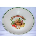 Over and Back Ciao Italia Pasta Serving Bowl Vintage - $25.00