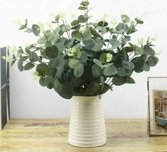 Artificial Flowers Eucalyptus Leafs Large 42cm Green Plants Home Wedding... - $2.97