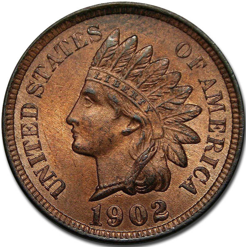 1902 Indian Head Cent Penny Coin Lot# A 1120