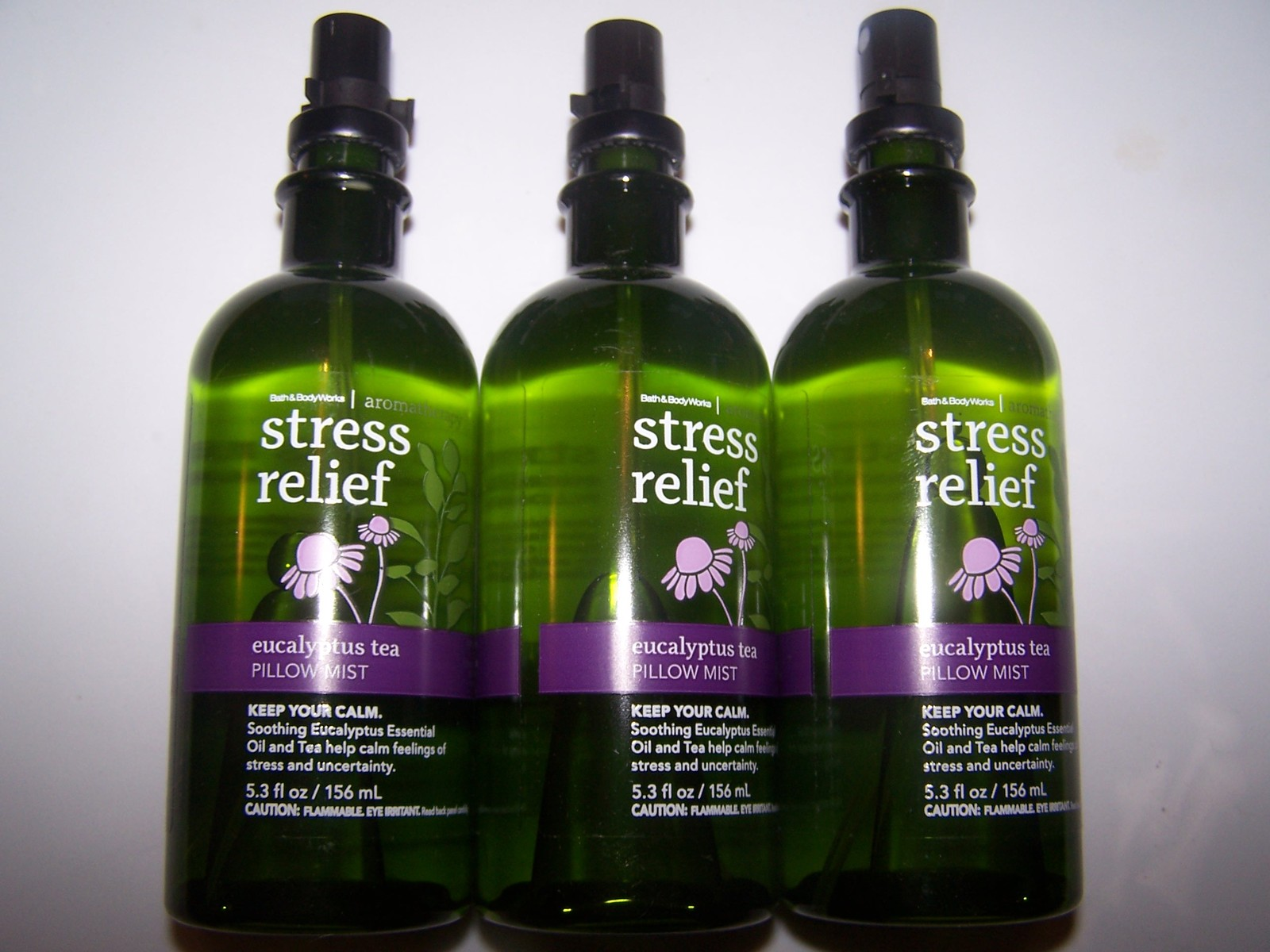 3 Bath & Body Works Aromatherapy Stress Relief Eucalyptus Tea Pillow Mist