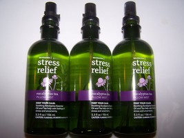 3 Bath & Body Works Aromatherapy Stress Relief Eucalyptus Tea Pillow Mist - $46.99