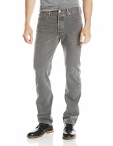 Levi's 501 Men's Original Fit Straight Leg Jeans Button Fly Gray 501-2149 image 2