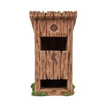 Miniature Fairy Garden Wooden Outhouse Toilet with Door Figurine Display... - £16.00 GBP
