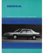 1986 HONDA CORPORATE Annual Report financial results brochure catalog Acura - $8.00