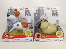 The Secret Life of Pets - Walking Talking Pets Max and Mel Toy Dog New Sealed - $24.01