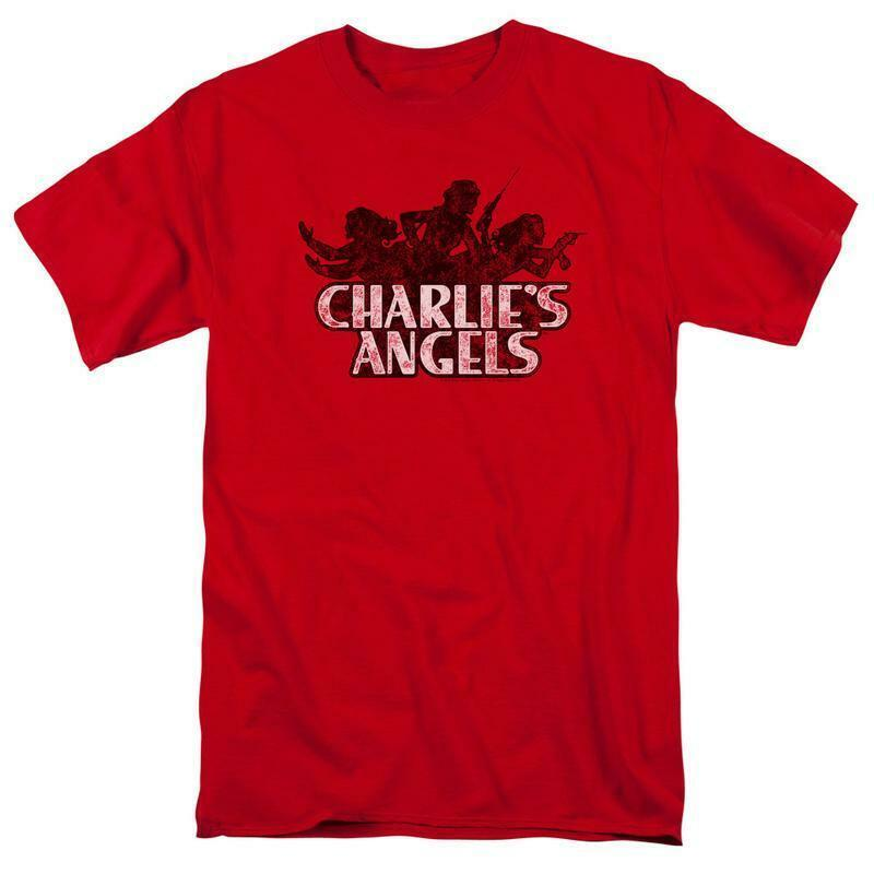 Charlie s angels t shirt distressed logo retro 1970s tv show graphic tee sony255
