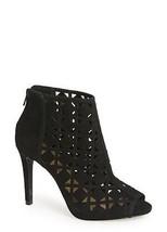 Michael Kors Ivy DK Black High Heel Open Toe Back Zip Booties Size 10- N... - $111.27