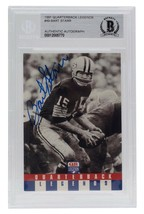 Bart Starr Packers Signed Slabbed 1991 Quarterback Legends 49 Card BAS - $277.19