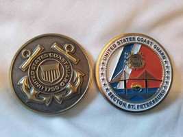 "COAST GUARD SECTOR ST. PETERSBURG 1.75"" CHALLENGE COIN  - $17.09"