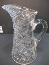 American Brilliant Period Cut Glass pitcher Antique - $88.48