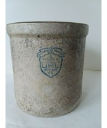 "Huntingburg Indiana UHL Pottery Stoneware Crock 1 1/8 Gallon 7 3/4"" T x ... - $52.26"