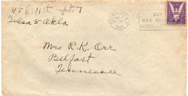 11/3/1943 WWII REFERENCES LETTER + ENVELOPE + NEWS CLIPPINGS TULSA OK BE... - $9.99