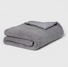 Room Essentials Sherpa Weighted Blanket with Removable Cover | 50 x 70 |Gray NEW image 1