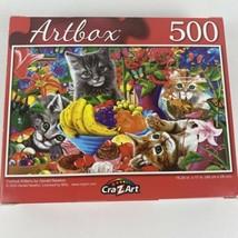 "Curious Kittens by Gerald Newton Artbox CraZart 18.25"" X 11"" Puzzle 500 ... - $8.57"