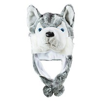 Super Z Outlet Husky Timber Wolf Cute Plush Animal Winter Hat Warm Winte... - €15,11 EUR