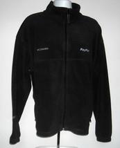 Mens embroidered Columbia Paypal Fleece Jacket XXL black full zip pockets - $37.57