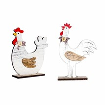 Home Wooden Decorations Cock Easter Spring Toy Craft Children Gifts Orna... - $6.94