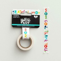 Roll over image to zoom in Illustrated Faith - Washi Tape - Grateful - £6.75 GBP
