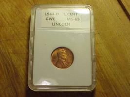 1944-D LINCOLN WHEAT CENT IN HOLDER ..U - GRADE. - $4.95