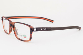 Tag Heuer 7601-002 Brown Havana Orange Eyeglasses TH7601 2 55mm - $175.42