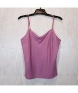 Womens Lavender Polyester Cami Size L Adjustable Spaghetti Strap Intimates - $17.19