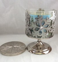 Christmas BBW Footed Candle Holder with Fresh Balsam 3- Wicks Candle - $36.00