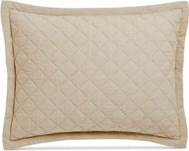 MARTHA STEWART Standard Broadstitch Diamond Quilted Linen Pillow Sham Oa... - $37.61