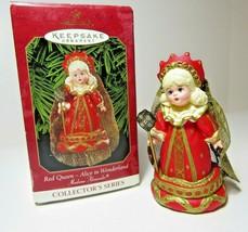 Red Queen Alice In Wonderland Doll Madame Alexander Hallmark Ornament Ch... - $8.59