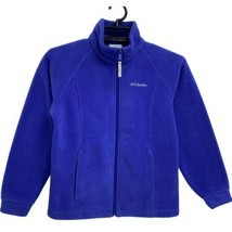 Columbia youth girls fleece jacket purple violet full zip front size 10/12 - $33.45