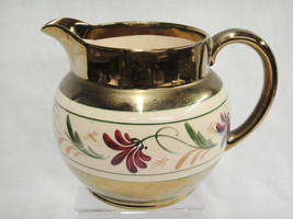 Wade Heath Porcelain Pitcher Gilded with Ivory ... - $17.81