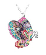 Colorful Butterfly Pendant Necklace - $22.99
